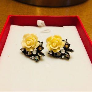 Jewelry - White Rose Stud Earrings
